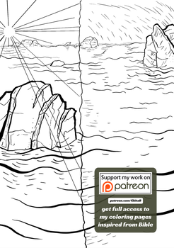 [004] Genesis 1:4 - coloring page - Bible by GhitaBArt