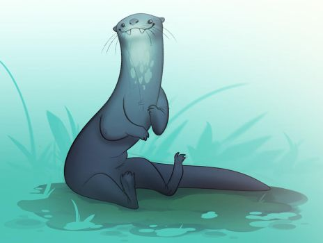 giant river otter by CoconutMilkyway