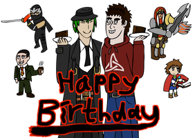 Happy Birthday to Hazama and Me by stevemacqwark