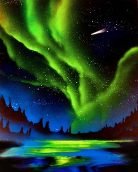 Spray Paint - Northern Lights by Clanaad