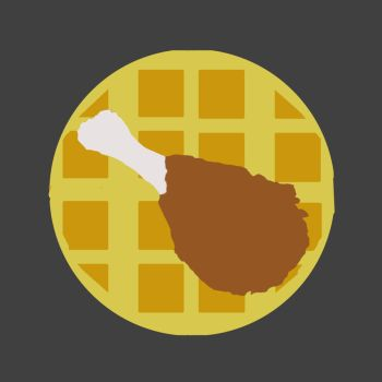 My First Printed Work - Chicken and Waffles by JohnFZoidberg