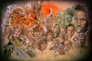 The Lord Of The Rings by saintworksart