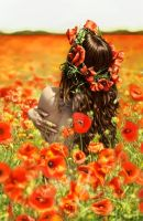 Dorothy in poppies by DrKujo