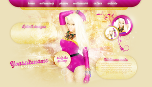 Nicki Minaj Premade Header by cherryproductionsorg