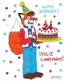 Thanks for the good birthday wishes! by AnthoFur