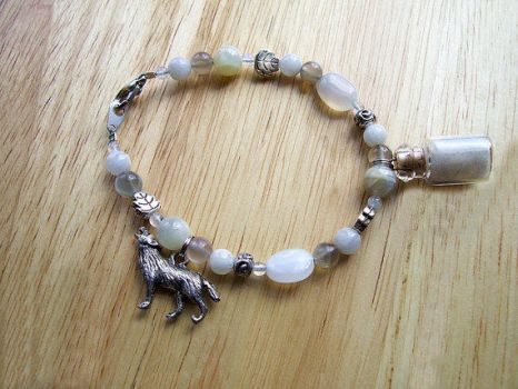 White Wolf Lunar Spirit Bracelet (SOLD) by DaybreaksDawn