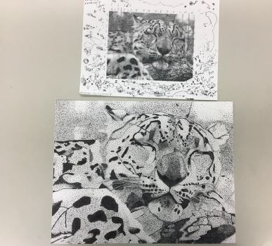 Leopard Stippling Art Project (First Progress) by Aleks-Wulfe