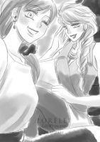 Elsanna daily doodle 14 by LORELEI-LilyPrincess