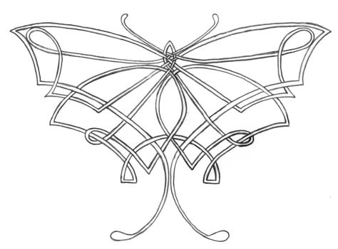 Celtic Butterfly Knot by aelthwyn