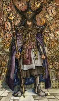 The Hierophant - Blackthorn Tarot by RachelQuinlan