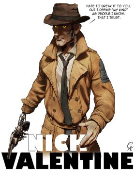 Nick Valentine - Fallout 4 by CameronAugust