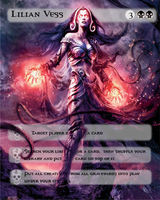 Liliana Vess Art Card by elvenbladerogue
