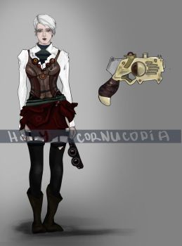 Adopt Auction. Steampunk woman [OPEN] by holy-cornucopia