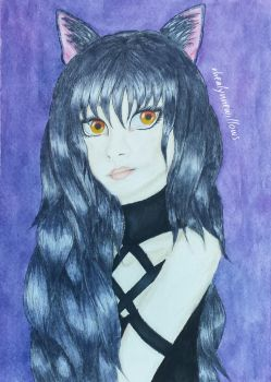 WATERCOLOR SPEEDPAINT | Blake Belladonna  | RWBY by rhealynnewillows