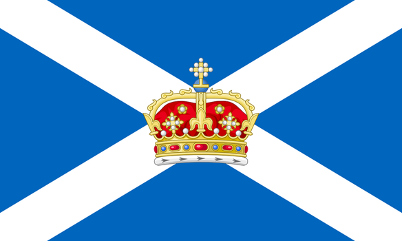Flag of scotich monarchism by Jaglion