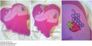 SOLD Berry Punch/Berry Shine Heart Pillow by PrinceOfRage