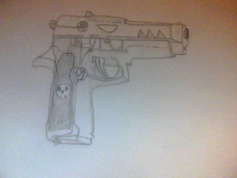 Death The Kid's Gun by HikaruAttack
