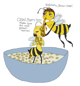 barry snowballs honey into buzz' mouth NOT SEXUAL! by Pudgley