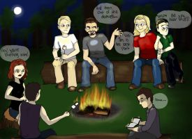 Camping trip: scary stories by foxyjoy