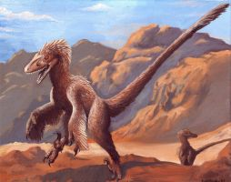 Velociraptor Pair by EWilloughby