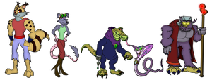 Animal Hybrids - Character Lineup by Moheart7