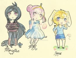 Marceline, PB, and Fionna by Alexandria-Paige