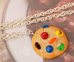 M+M Cookie Necklace by DeliciousTrickery