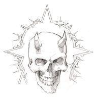Skull and Wire by megalaros