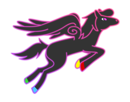 Flying Neon Pegasus by Jerick