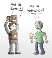 Human and Robot by Pabloic