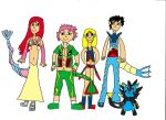 Fairy Tail PokeMorphs by DaVonteWagner