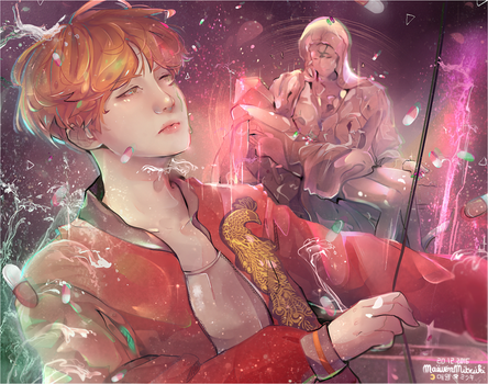 HOSEOK_BLOOD SWEAT AND TEARS. by MaewenMitzuki