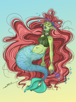 Hippie Mermaid by Cup-of-VictoryTea