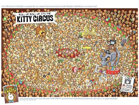 Find Chaffy at Kitty Circus by icanseeyourmonkey