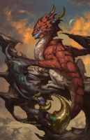 2014 Zodiac Dragons Scorpio by The-SixthLeafClover