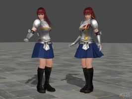 DOA5 Kasumi Costume 51 Fairy Tail Mashup by rolance
