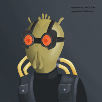 Painting: Krombopulos Michael by V3ldin