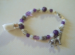 White Wolf Spirit Healing Charm Bracelet (SOLD) by DaybreaksDawn