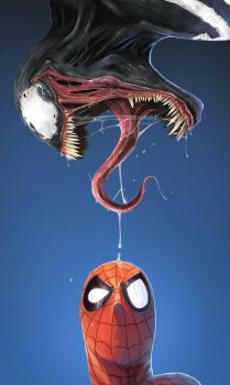 What The..? -  MARVEL 01 VENOM by DanLuVisiArt