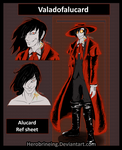 Alucard ref sheet [My style] by Herobrineing