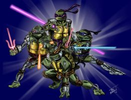 Cyborg Turtles in time by MrFixit741