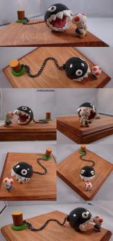 Toad Meets Chain Chomp Diorama by ChibiSilverWings