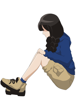 1st attempt using Paint tool SAI - Rin by MiyazakiRin