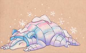 Alola Sandshrew by sketchwithtiff