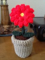 Flower in pot amigurumi by Sparrow-dream