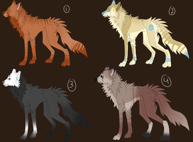 Canine Adopts   S O L D   By Cheshirewolf97-d7uksq by NocturnPhobia