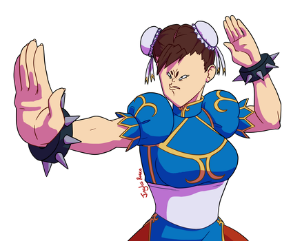 Weirdface Chun-Li by JinglesRasco