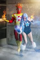 Firestorm and Killerfrost by lordwosh