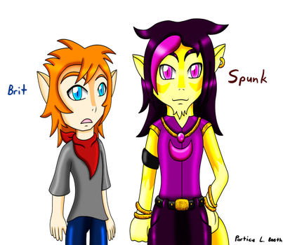 Thundercats OC: Brit and Spunk by ticenette
