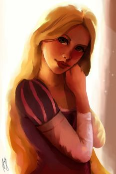 Rapunzel by Andreanable
